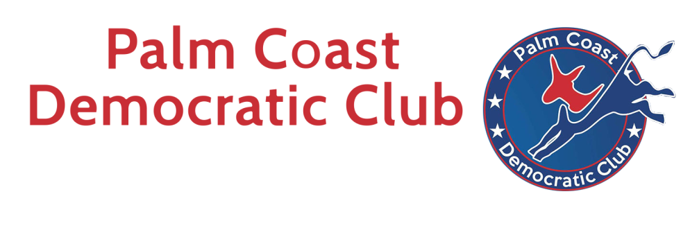 Palm Coast Democratic Club. For Flagler...For America Logo